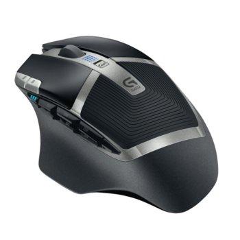Мишка Logitech G602, оптична (2500 dpi), безжична, USB, черна, 11 пpoгpaмиpyeми бyтoнa image