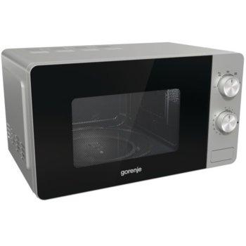 Микровълнова фурна Gorenje MO20E1S, механично управление, 800 W, 20л. обем, 5 степени на мощност, сребрист image