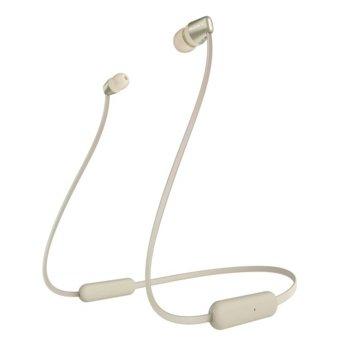 """Слушалки Sony WI-C310 в комплект с слушалки WI-C310(сини), микрофон, безжични, Bluetooth, до 15 часа време на работа, тип """"тапи"""", златисти image"""