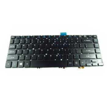 Клавиатура за лаптоп Acer, съвместима със серия Aspire M5-481T M5-481TG M5-481PT M5-481PTG, без рамка, черна, с подсветка image