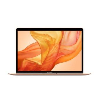 "Лаптоп Apple MacBook Air (MVH52LL/A)(златист), четириядрен Intel Core i5 1.1/3.5 GHz, 13.3"" (33.78 cm) Retina IPS LED-Backlit Display, (Thunderbolt 3), 8GB, 512GB SSD, macOS image"