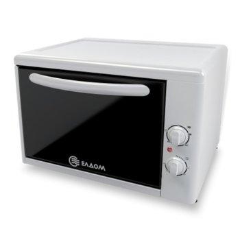 Минифурна Елдом 204VW-NEW БЯЛА, 38л. обем на фурната, грилов нагревател в фурната, вградено осветление на фурната, 1415 W, бяла image