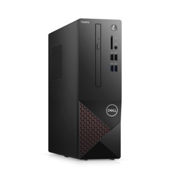 Настолен компютър Dell Vostro 3681 SFF (N504VD3681EMEA01_2101_M), четириядрен Comet Lake Intel Core i3-10100 3.6/4.3 GHz, 8GB DDR4, 1TB HDD & 256GB SSD, 4x USB 3.2, клавиатура и мишка, Windows 10 Pro image