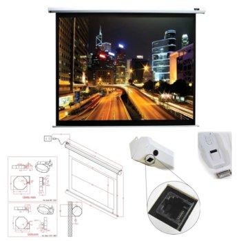 "Екран Elite Screens 100"" (254 cm), 152.4 x 203.2 cm ползваема площ, електромотор, дистанционно, 2г. image"