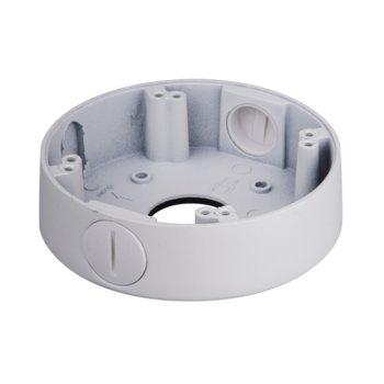 Разпределителна кутия Dahua PFA13B, алуминий, 122.2 х 33.5mm до 1кг товар, за куполни камери, бяла image