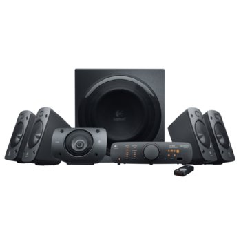 Тонколони Logitech Z906, 5.1, 500W (165W + 5x67W), 2x optical input, дистанционно, черна image