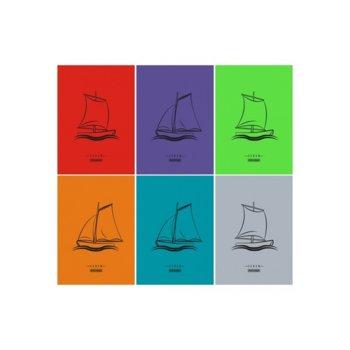 Тетрадка Seren Fluor, формат А4, офсет, редове, 80 листа image