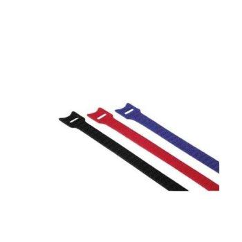 Самозалепващи кабелни връзки с ухо, 12 броя, 11 x 200 mm image
