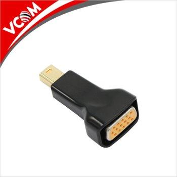 Преходник VCom CA335, от Mini DisplayPort(м) към VGA(ж), черен image
