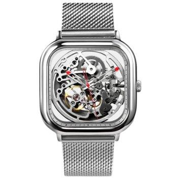 Часовник Xiaomi CIGA Full Hollow, механичен, неръждаема стомана, сребрист image