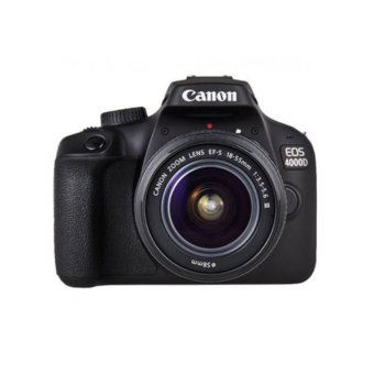 "Фотоапарат Canon EOS 4000D в комплект с обективи Canon 18-55mm F/3.5-5.6 DC III и EF-S 10-18mm f/4.5-5.6 IS STM, 18.0 MPix, 2.7""(6.85cm) LCD дисплей, SD card слот, HDMI Mini(Type-C), Wi-Fi image"