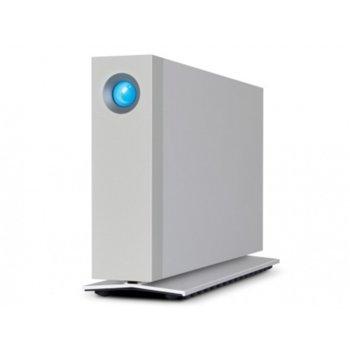 """Твърд диск 6TB, Lacie d2 (сребрист), външен, 3.5""""(8.89 cm), Thunderbolt 3 image"""