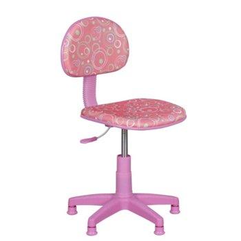 Детски стол Carmen 6011, дамаска, полипропиленова база, газов амортисьор, коригиране на височината, розов image