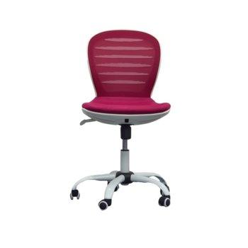 Детски стол RFG Flexy White, дамаска и меш, седалка вишна, облегалка вишна image