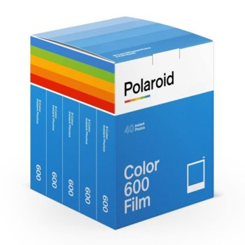 Фотохартия Polaroid Color Film for 600 - x40 film pack, 4 x 3 inch, за Polaroid 600, 5x 8 листа image