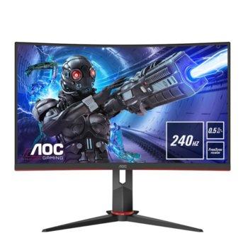 """Монитор AOC C27G2ZE/BK 27"""" (68.58 cm) VA панел, 240 Hz, Full HD, 0.5 ms, 300cd/m2, DisplayPort, HDMI image"""
