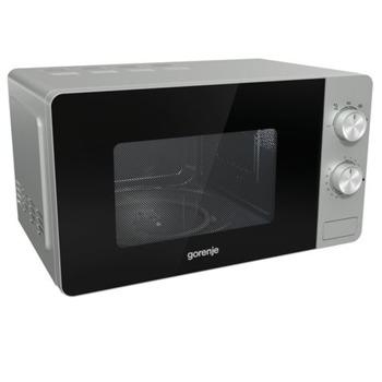 Микровълнова фурна Gorenje MO20E1S, електронно управление, 800W, сребърна image