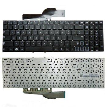"""Клавиатура за Samsung 300 Series NP300 15.6"""", US, без рамка, черна image"""