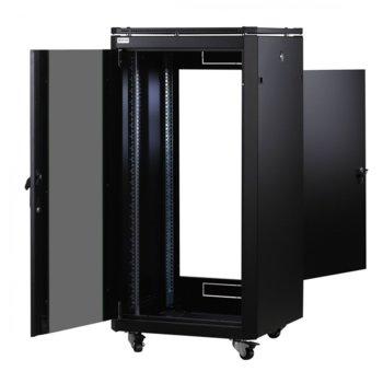 Комуникационен шкаф Mirsan MR.GTAP12U61.01, 42U, 600 x 1000 x 719 mm, D=1000 мм, 600 кг товар, черен image