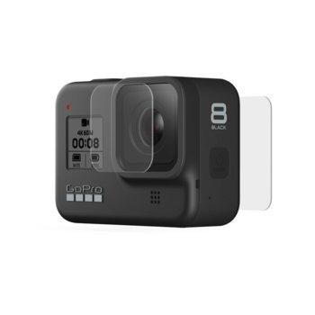 Протектор за обектив и дисплей GoPro Tempered Glass Lens + Screen Protectors за HERO8 Black, розов image