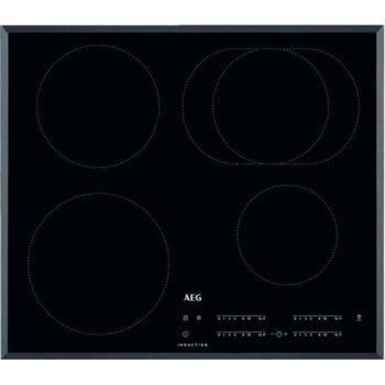 Вграден керамичен плот AEG IKB64413FB, 4 нагревателни зони, OptiHeat, черен image