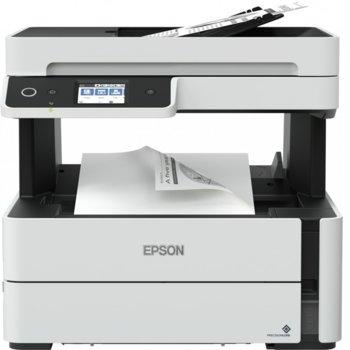 Мултифункционално мастиленоструйно устройство Epson EcoTank M3140 C11CG91403, монохромен, принтер/копир/скенер/факс, 1200 x 2400 dpi, 39 стр./мин, USB, A4 image