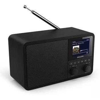 Портативно радио Philips TAPR802, TFT дисплей, Bluetooth, FM тунер, 2 аларми, функция за заспиване, черен image