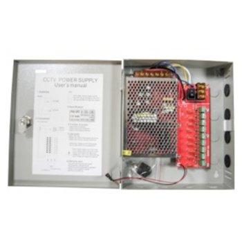 Захранващ блок, 12V/10A, 9 изхода със защита image