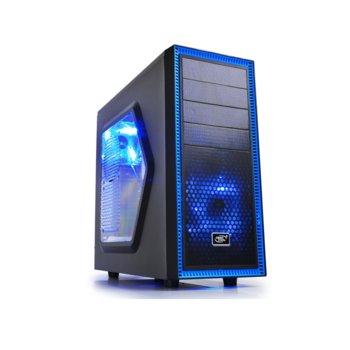 Кутия DeepCool Tesseract SW, ATX/MICRO ATX/MINI-ITX, USB 3.0, 2x LED вентилатора, черна, без захранване image
