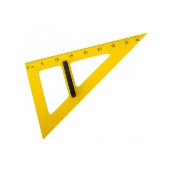 Тригълник за бяла дъска, дължина 50см., жълт image