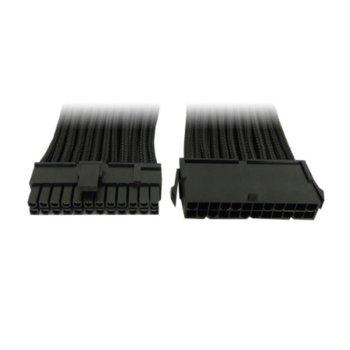 Захранващ кабел Gelid Solutions CA-24P-01, ATX 24pin(м)към 24pin(ж), 0.3m, черен image