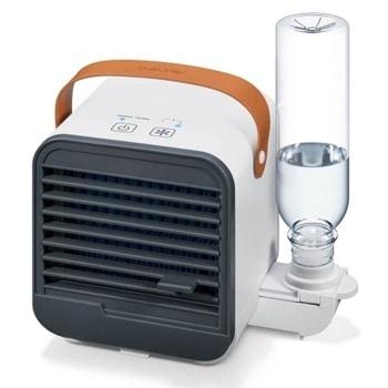 Настолен вентилатор Beurer LV 50 (68401_BEU), охлаждане и овлажняване с използване на вентилатор и принцип на изпаряване, 3 степени на мощност, сменяема бутилка 0.25l и филтър за изпаряване, бял image