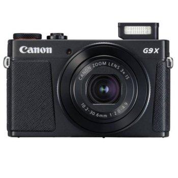 "Фотоапарат Canon PowerShot G9X MARK II (черно), 3x оптично увеличение, 20.1 Mpix, 3.0"" (7.62cm) LCD дисплей, Wi-Fi, NFC, Bluetooth, HDMI Type D, microUSB Type B, SD/SDHC/SDXC слот image"
