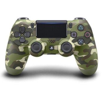 Геймпад Sony DualShock 4 V2,безжичен, за PS4, зелен (Camo Green) image