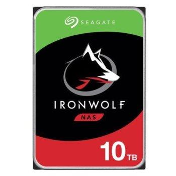 "Твърд диск 10TB Seagate IronWolf NAS ST10000VN0008, SATA 6Gb/s, 7200 rpm, 256MB кеш, 3.5"" (8.89cm) image"