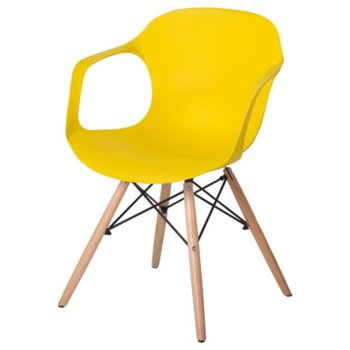 Трапезен стол Carmen 9964, жълт image