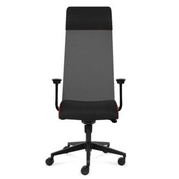 Президентски стол Tronhill Solium Executive (ON4010200076), дамаска и меш, 120 кг. максимално натоварване, 5 заключващи се работни позиции, тъмносив image