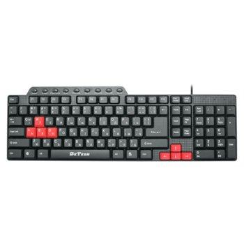 Клавиатура DeTech DE6085, мултимедийна, кирилизирана, USB, черна  image