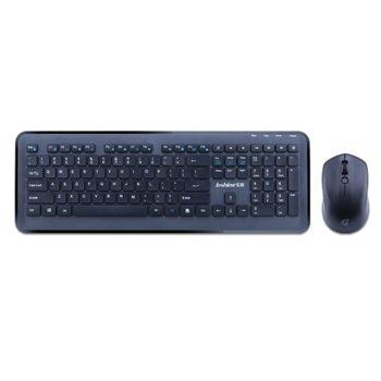 Комплект клавиатура и мишка Loshine T8800, безжични, USB, черни image