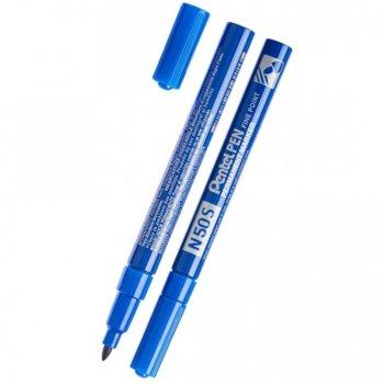 Перманентен маркер Pentel N50S син, 1.0 mm, с метално тяло image