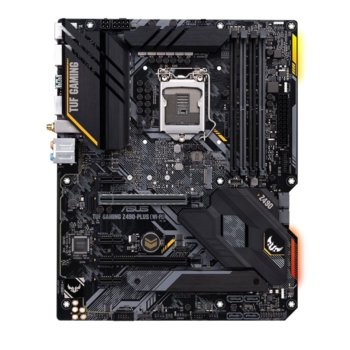 Дънна платка Asus TUF GAMING Z490-PLUS (WI-FI), Z490, LGA1200, DDR4, PCI-E 3.0, (HDMI&DP), CFX, SATA 6Gb/s, 2x M.2 Socket, 2x USB 3.2 Gen 2, Wi-Fi, Bluetooth, ATX image