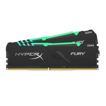 Памет 32GB(2x16GB) DDR4, 3200Mhz, Kingston HyperX Fury RGB, HX432C16FB3AK2/32, 1.35 V image