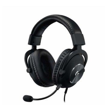 Слушалки Logitech Pro X, микрофон, гейминг, 3.5mm жак, USB, 7.1 surround, черни image