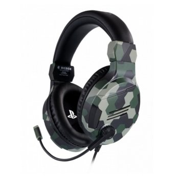 Слушалки Nacon Bigben PS4 Official Headset V3, гейминг, микрофон, за PS4, Камуфлаж image