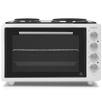 Готварска печка Crown CMO-422W, 2 броя нагревателни зони, 42 л. обем на фурната, бяла image