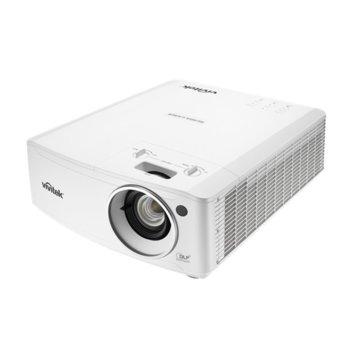 Проектор Vivitek DU4671Z, DLP, 3D Ready, WUXGA (1920x1200), 20 000:1, 5500 lm, 3x HDMI, VGA, 2x RJ-45, USB, бял image