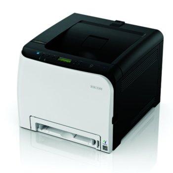 Лазерен принтер RICOH SP C261DNw, цветен, 2400 x 600 dpi, 20 стр/мин, LAN, USB, Wi-Fi, А4 image