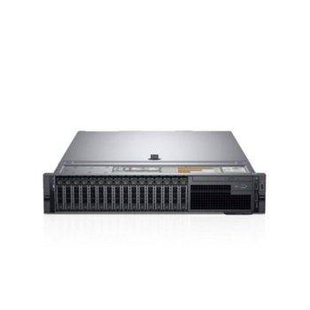 Сървър Dell PowerEdge R740 (PER740CEE02), осемядрен Skylake Intel Xeon Silver 4110 2.1/3.0 GHz, 16GB DDR4 RDIMM, 120GB SSD, 2 x USB 3.0, 1x 1GbE, No OS, 750W image