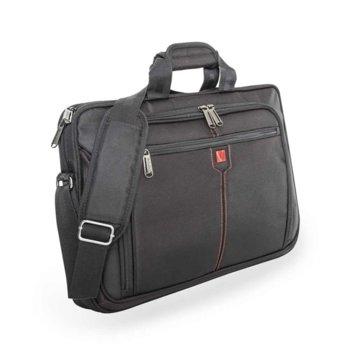 """Чанта за лаптоп Verbatim London, до 17"""" (43.18 cm), черна image"""
