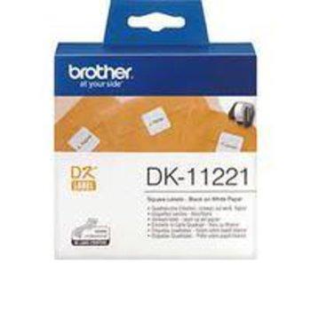 ЛЕНТА ЗА ЕТИКЕТНИ ПРИНТЕРИ BROTHER ТИП DK - SQUARE PAPER LABEL - 23mm x 23mm x 1000 - P№DK11221 image